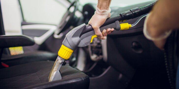Dezinfekcia ozónom, čistenie interiéru a exteriéru vozidla i tepovanie sedadiel