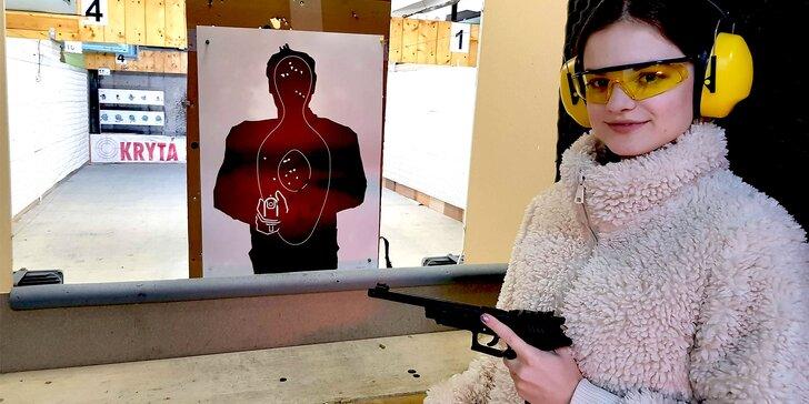 Streľba zo zbraní podľa vlastného výberu na krytej strelnici