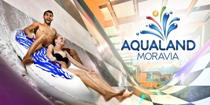 Jeseň v Aqualande Moravia: celodenné vstupy do bazénov i relax vo wellness a sírny termálny kúpeľ
