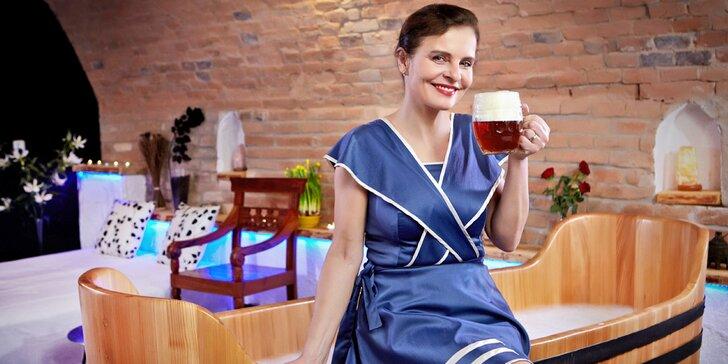 Božský relax v Rožnovských pivných kúpeľoch: morská či pivná starostlivosť a ubytovanie s jedlom