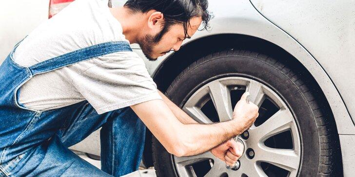 Prezutie a vyváženie kolies s kontrolou tlaku v pneumatikách a bŕzd