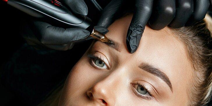 Permanentný make-up obočia Powder brows púdrovou technikou