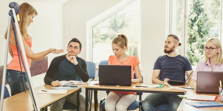 3-mesačný kurz angličtiny pre začiatočníkov alebo príprava na pohovor