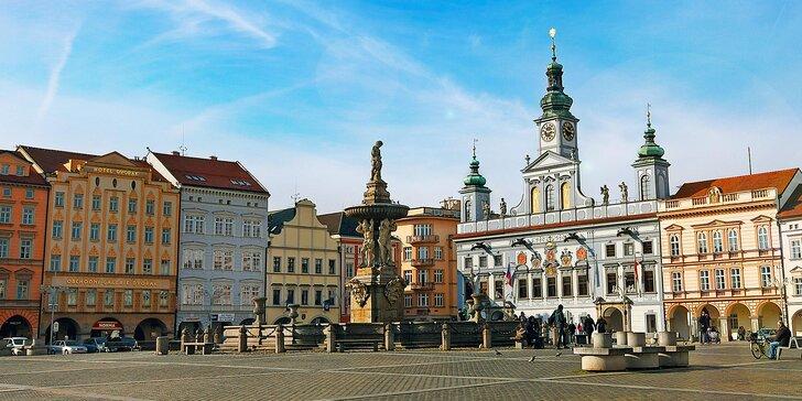 Pobyt v centre Budějovíc s raňajkami + dieťa do 13,9 rokov zadarmo