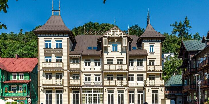 Dovolenka v kúpeľnom mestečku Krynica-Zdrój: úplne nový hotel s neobmedzeným wellness a množstvom aktivít v okolí