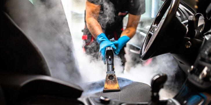 Keramická ochrana laku a čistenie exteriéru, interiéru, tepovanie parou či dezinfekcia ozónom