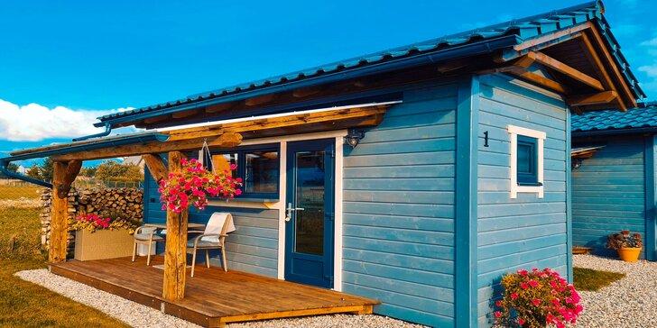 Pobyt v nových, malebných domčekoch zariadených v škandinávskom štýle aj s wellness a panorámou Vysokých a Nízkych Tatier