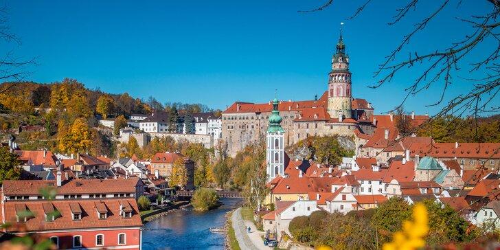 Čarovná dovolenka v Českom Krumlove: hotel 10 minút od historického centra, raňajky i fľaša vína