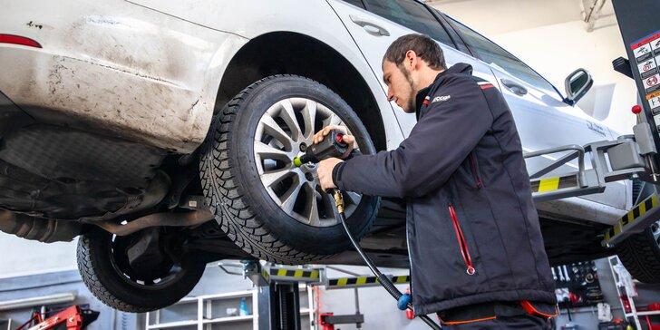 Výmena kolies či prezutie letných pneumatík na zimné a kontrola auta