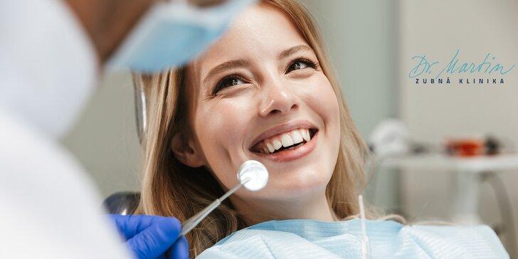 Prehliadka, dentálna hygiena alebo bielenie zubov v Dr. Martin zubnej klinike