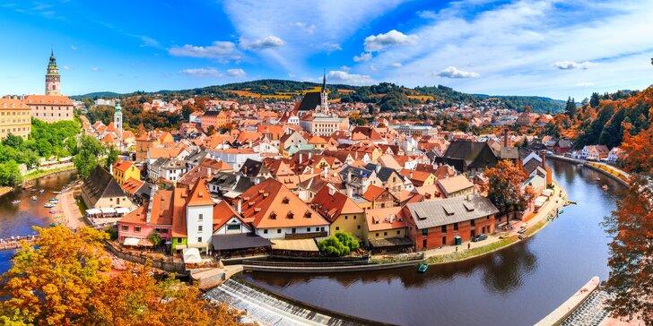 Romantika v Českom Krumlove: pobyt s raňajkami a fľašou Prosecca