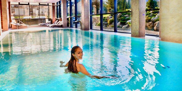 Luxusný wellness v Hot zóne s bazénom a možnosťou večere v Hoteli Lesná