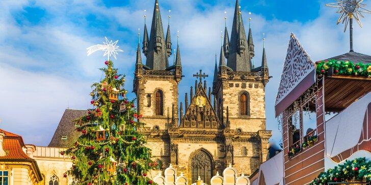 Vianočná atmosféra stovežatej Prahy s prehliadkou mesta, ubytovaním, raňajkami aj wellness