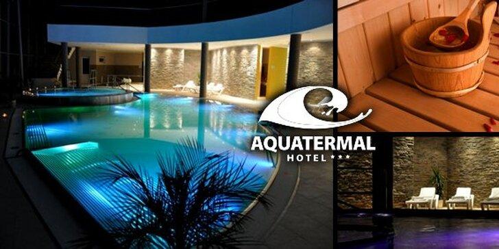 3 alebo 4 dni vo wellness hoteli AQUATERMAL***