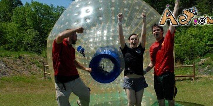 4,99 eur za ZORBING pre 1 až 2 osoby. Napumpujte sa poriadnou dávkou adrenalínu a zažite kotúľanie vo veľkom štýle v Action Parku!