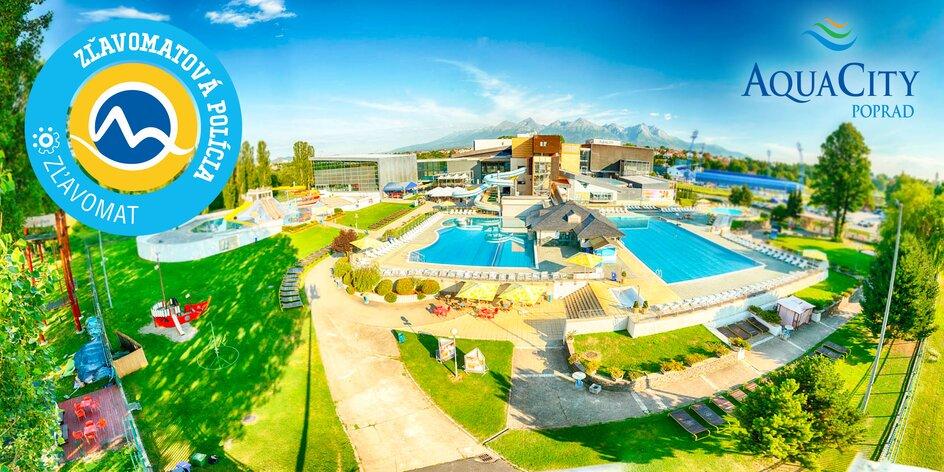 Celodenný relax v Aquaparku AquaCity Poprad