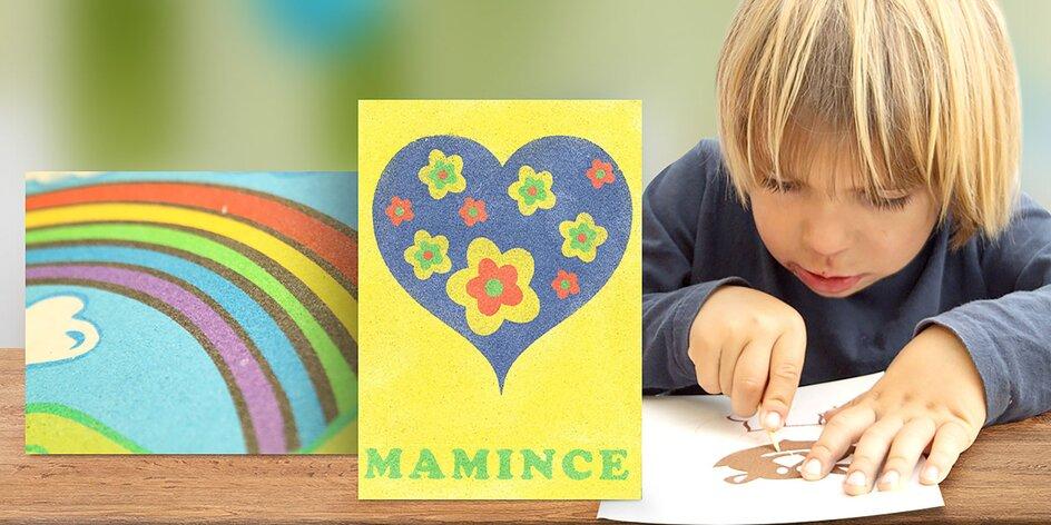 Kreatívna sada nielen pre deti: Farebné obrazce z piesku