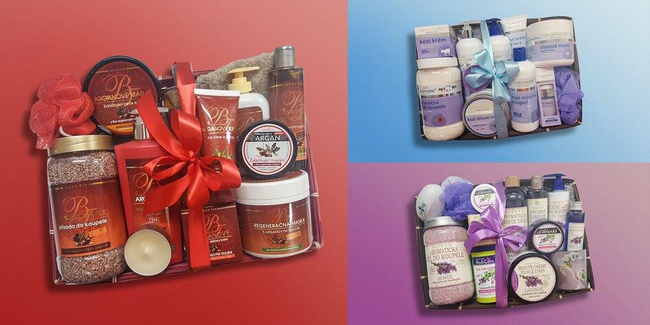 Darčekové kazety s arganovým olejom, kozím mliekom alebo levanduľovým olejom