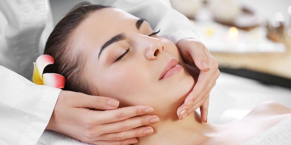 Luxusné alginátové ošetrenie pleti a masáž