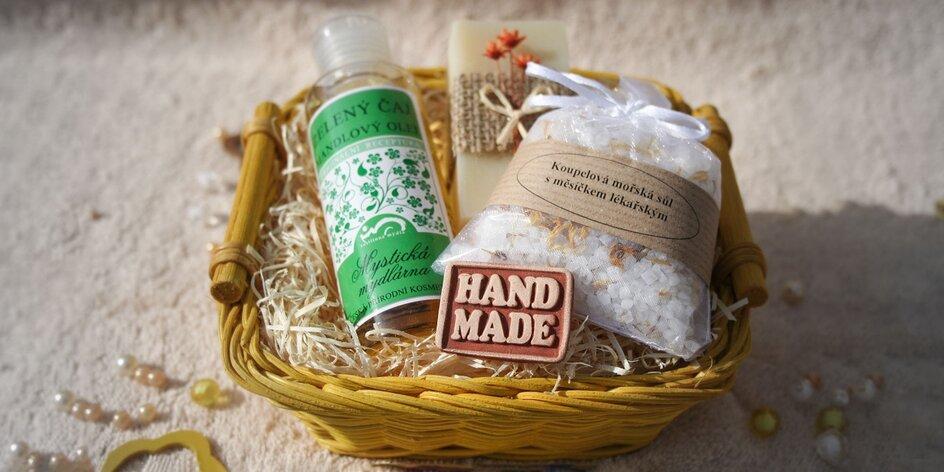 Prírodné mydielka - aj v darčekových košoch