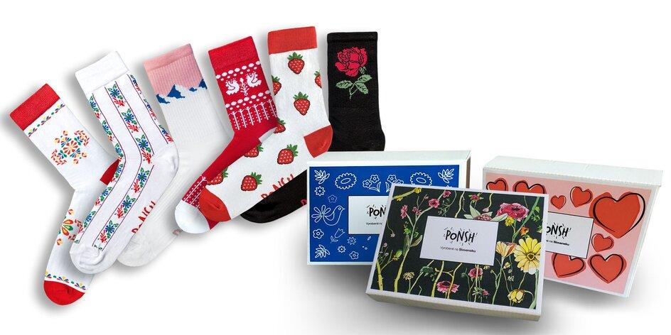 Trojbalenie originálnych slovenských ponožiek