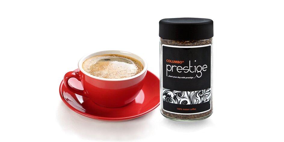 Skvelá chuť vymrazovanej instatntnej kávy Columbo Prestige v praktickom balení