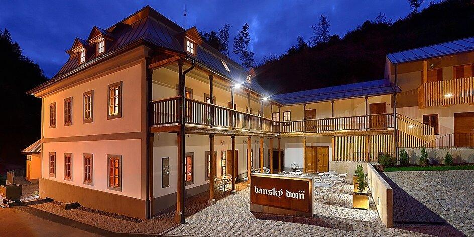 Wellness & Ski pobyt v Štiavnických vrchoch v modernom Banskom dome***