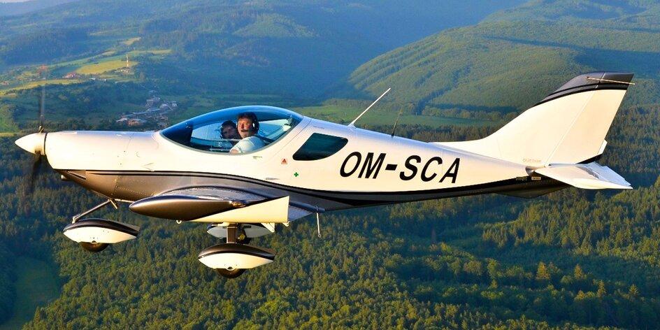 Let športovým lietadlom pre 1-3 osoby a pilotovanie
