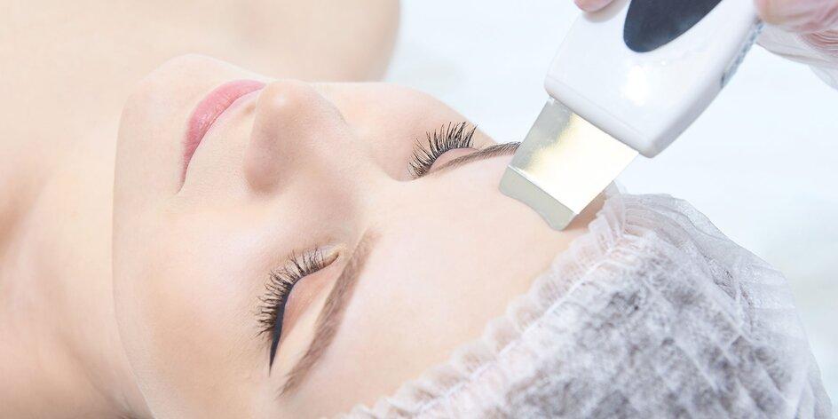 Ultrazvukové čistenie pleti s masážou