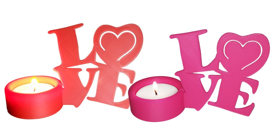 Romantické svietniky LOVE