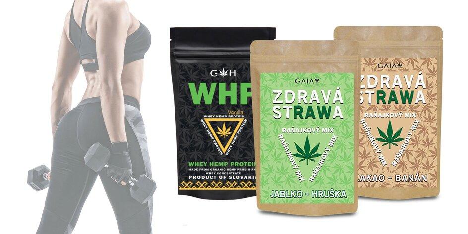 Chutné a zdravé raňajkové mixy či proteín s konopím