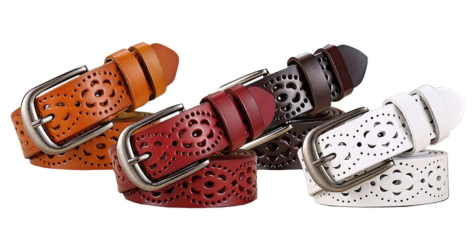 Dámske dizajnové opasky z pravej kože