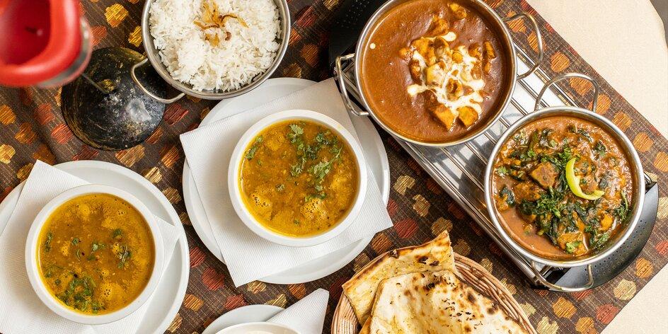 Indické menu Sindhu pre dvoch
