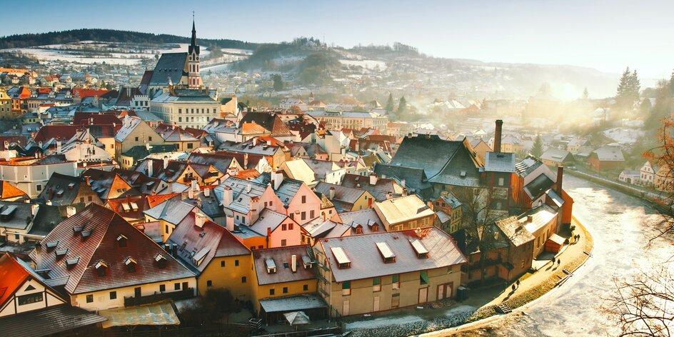 Krásny Český Krumlov - hotel na brehu Vltavy a chutná polpenzia