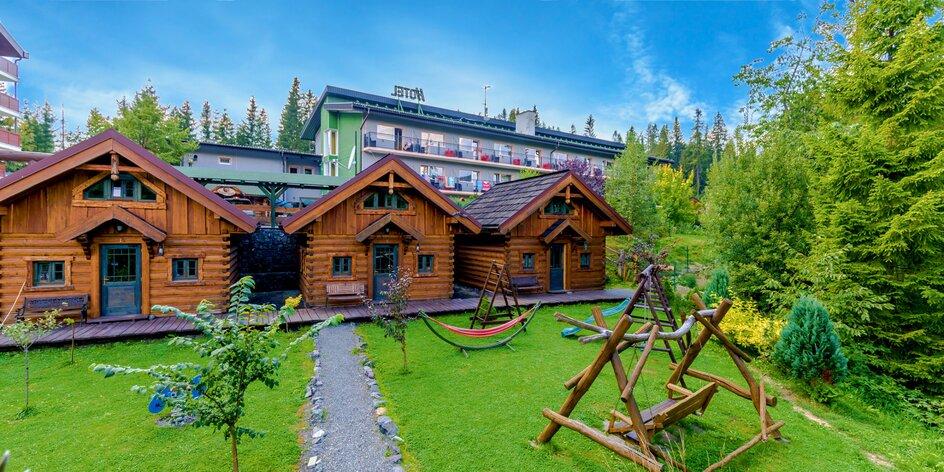 Pobyt v zruboch v Tatranskej Štrbe s wellness i polpenziou