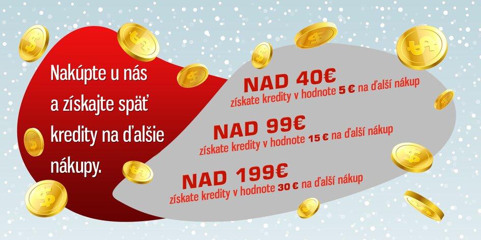 Kreditobranie! Získajte aj vy až 30 € na nákupy