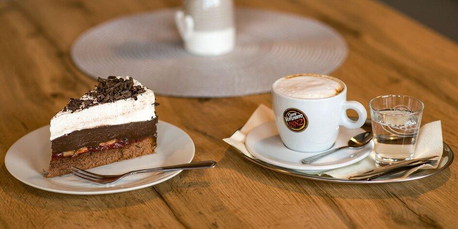 Káva alebo čaj + tortička (16 druhov) podľa vlastného výberu