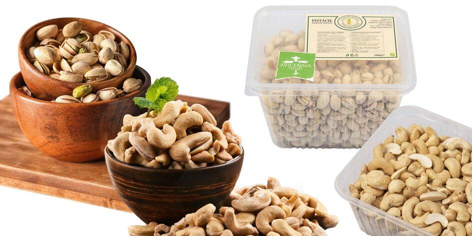 Kalifornské pistácie a kešu orechy v extra kvalite