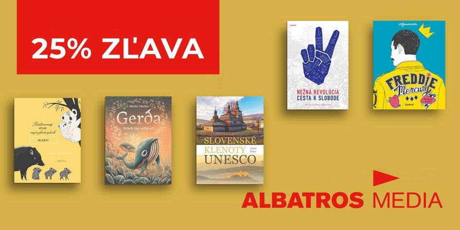 25 % zľava na knihy z Albatrosu a doprava zdarma