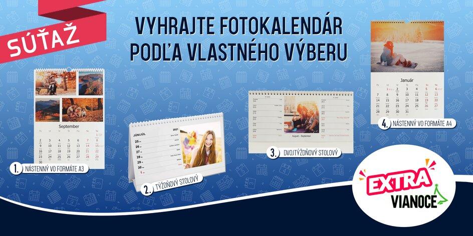 SÚŤAŽ! Vyhrajte kalendár z vlastných fotografií!