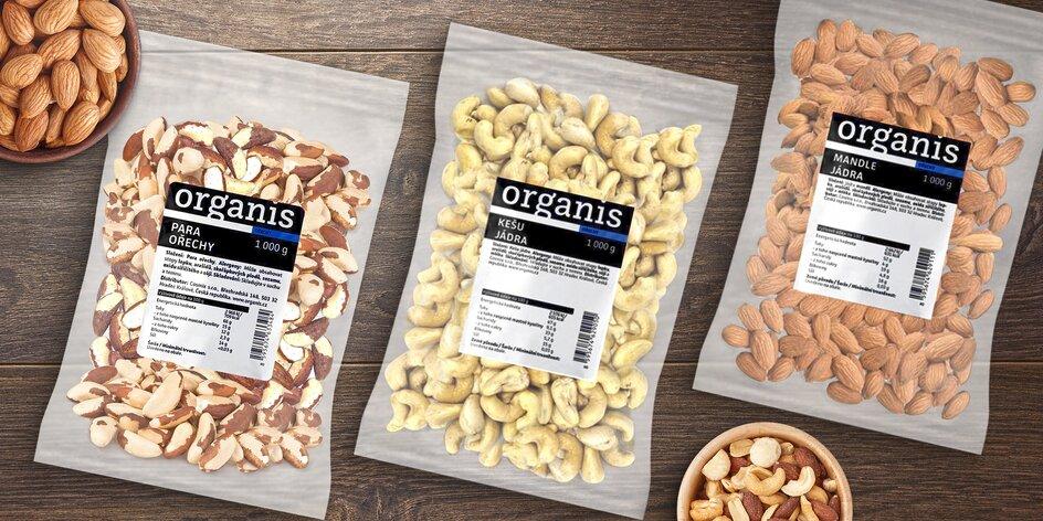 1 kg prírodných mandlí alebo kešu či para orechov