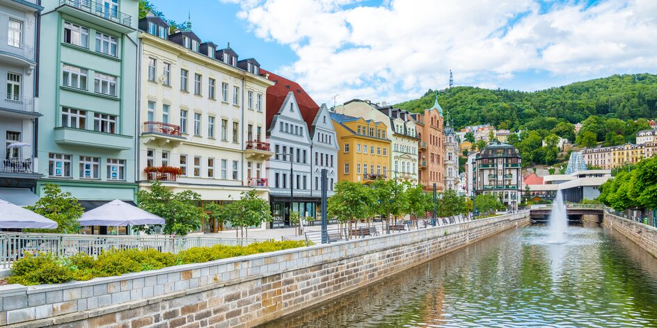 Rodinný pobyt v srdci Karlovych Varov: 4* hotel s polpenziou a saunou