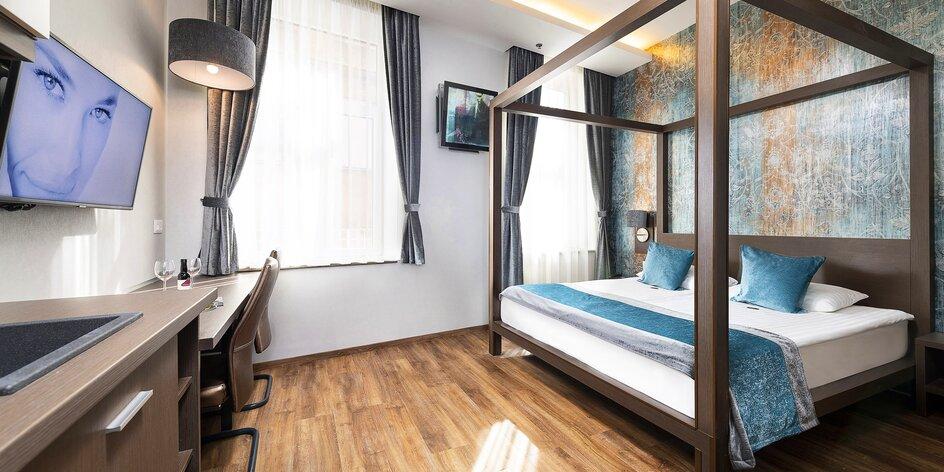 Zrekonštruovaný hotel v centre Budapešti s raňajkami a saunou