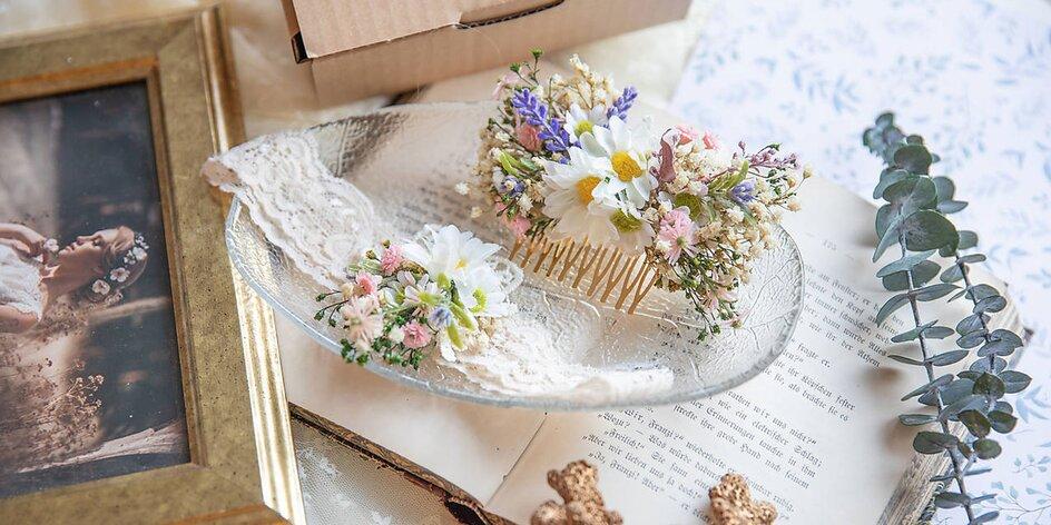 Handmade kvetinové vlásenky, hrebienky a čelenky