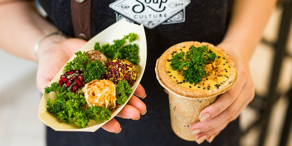 Vegetariánske a vegánske pochúťky v Soupculture