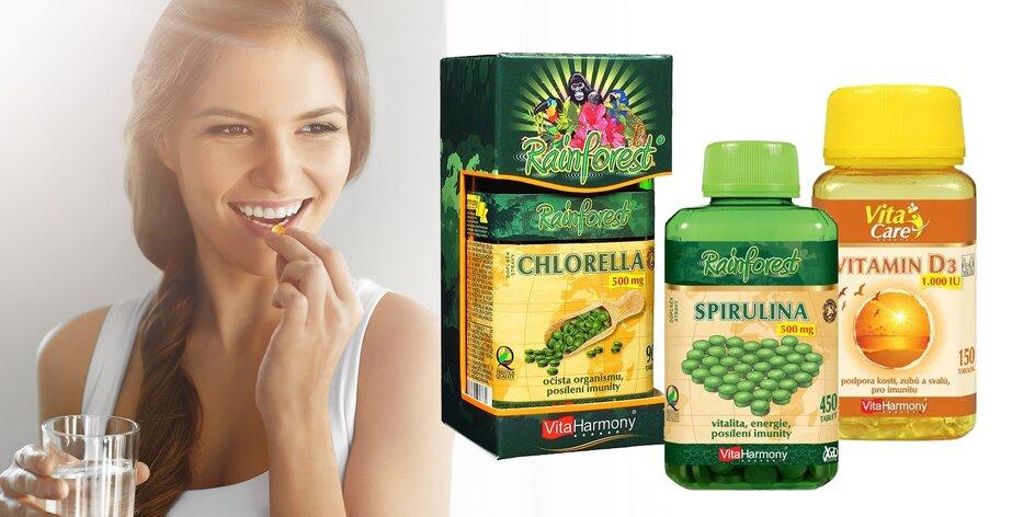 Výživové doplnky od VitaHarmony: betakarotén, vitamín D3 i spirulina