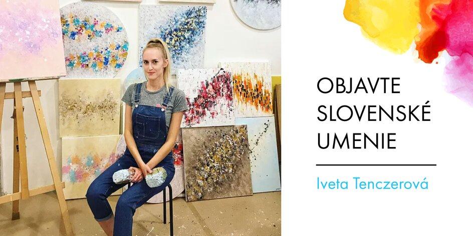 Abstraktné obrazy slovenskej maliarky Ježek Art