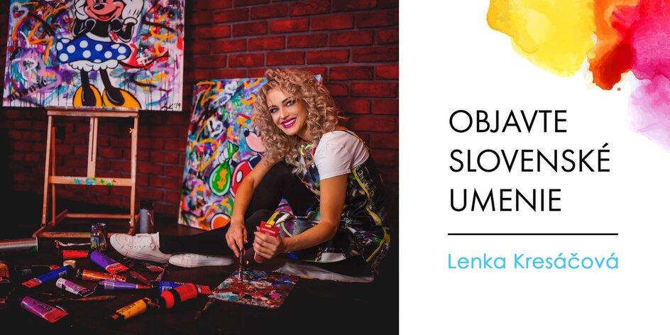 Obrazy slovenskej maliarky Lenky Kresáčovej