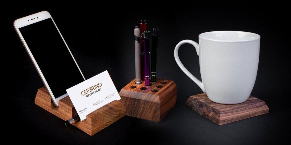 Elegantné drevené doplnky do domácnosti či kancelárie