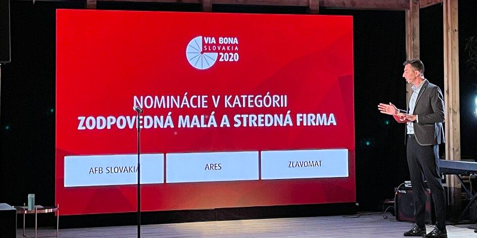 Zľavomat medzi finalistami ocenenia Via Bona za zodpovedné podnikanie